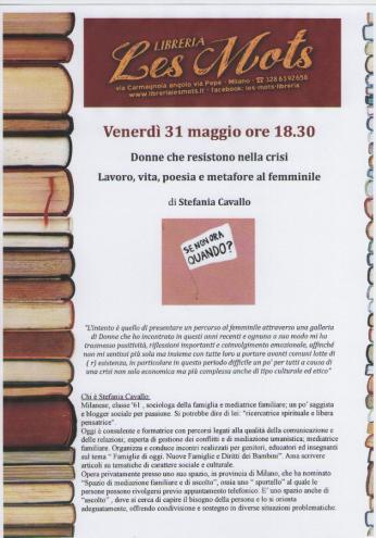 Donne che resistono  a Les Mots Libreria  31 maggio 2013