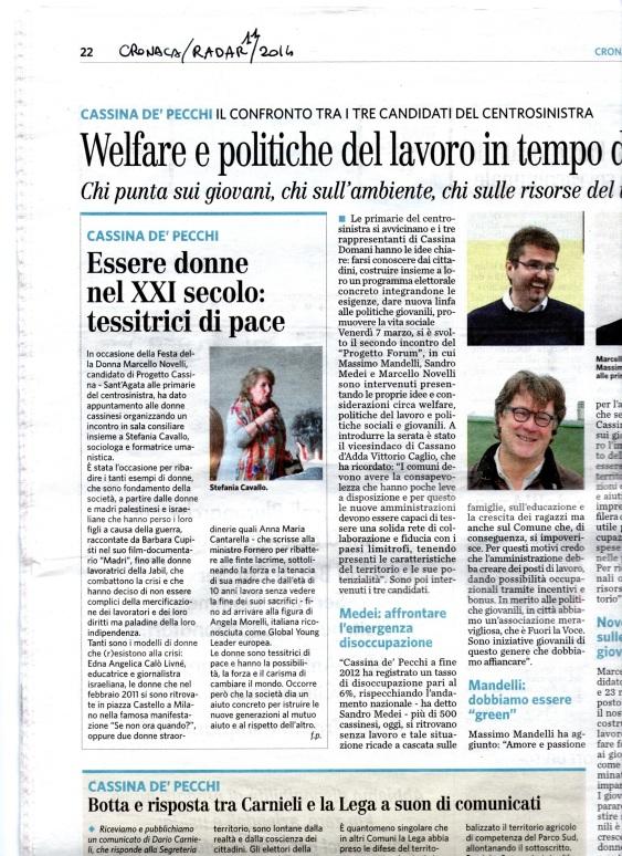 Le Tessitrici di Pace  8 marzo 2014  Cassina De Pecchi MI030